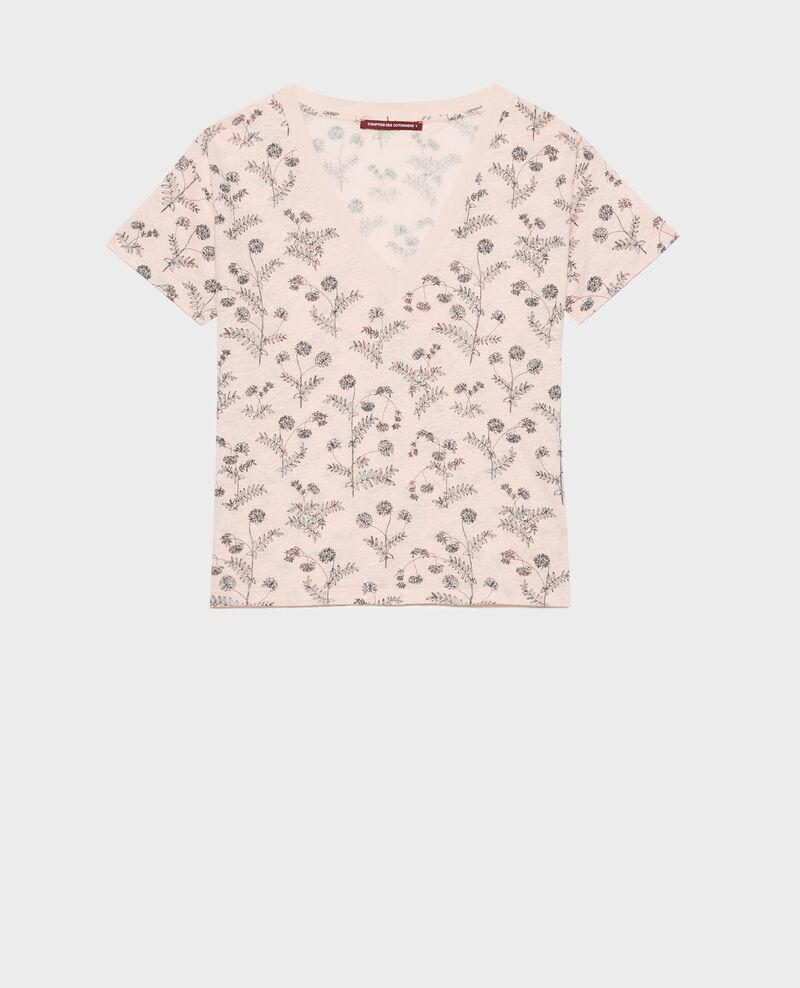 Shirt mit V-Ausschnitt aus Leinen Coronille seashell Nayeli