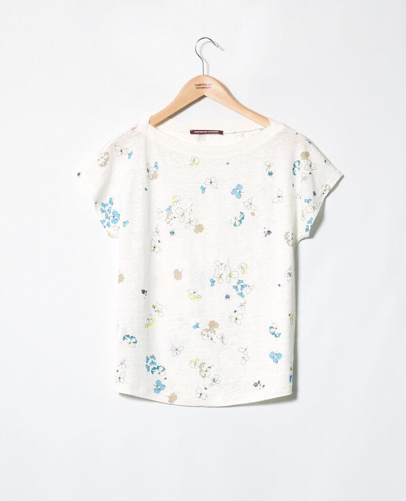T-shirt col bateau en lin Dry off white Idilika