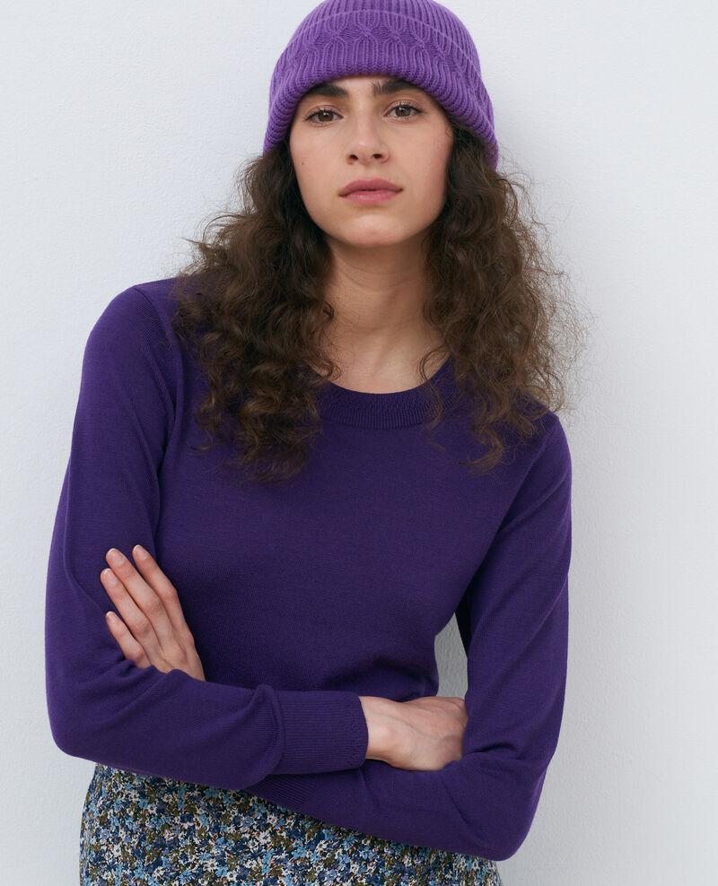 Pullover mit Rundhalsausschnitt aus Merinowolle Acai Passy