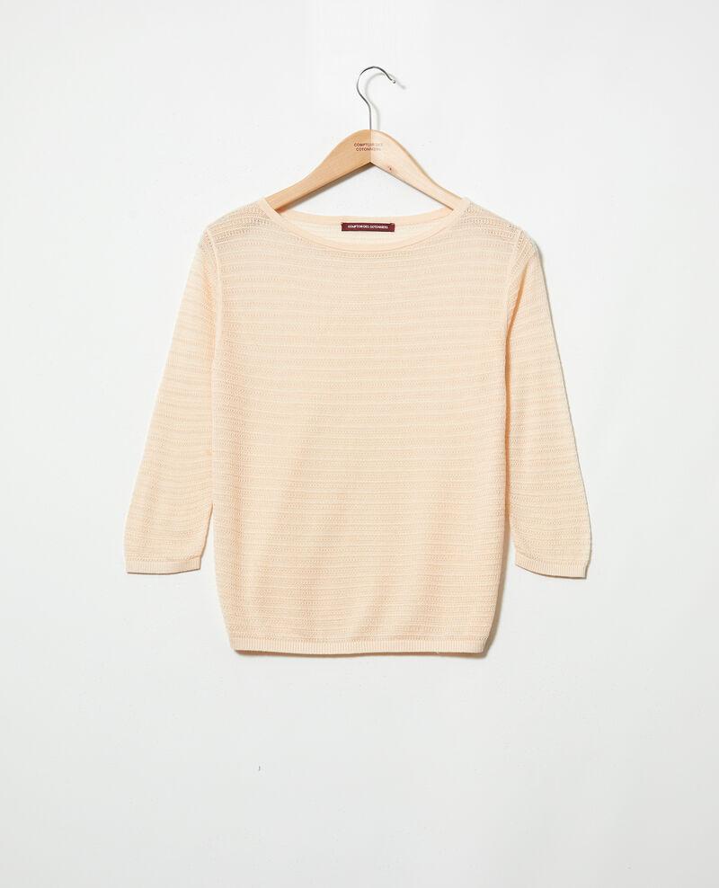 Strickpullover aus Baumwolle und Seide Light pink Iminette
