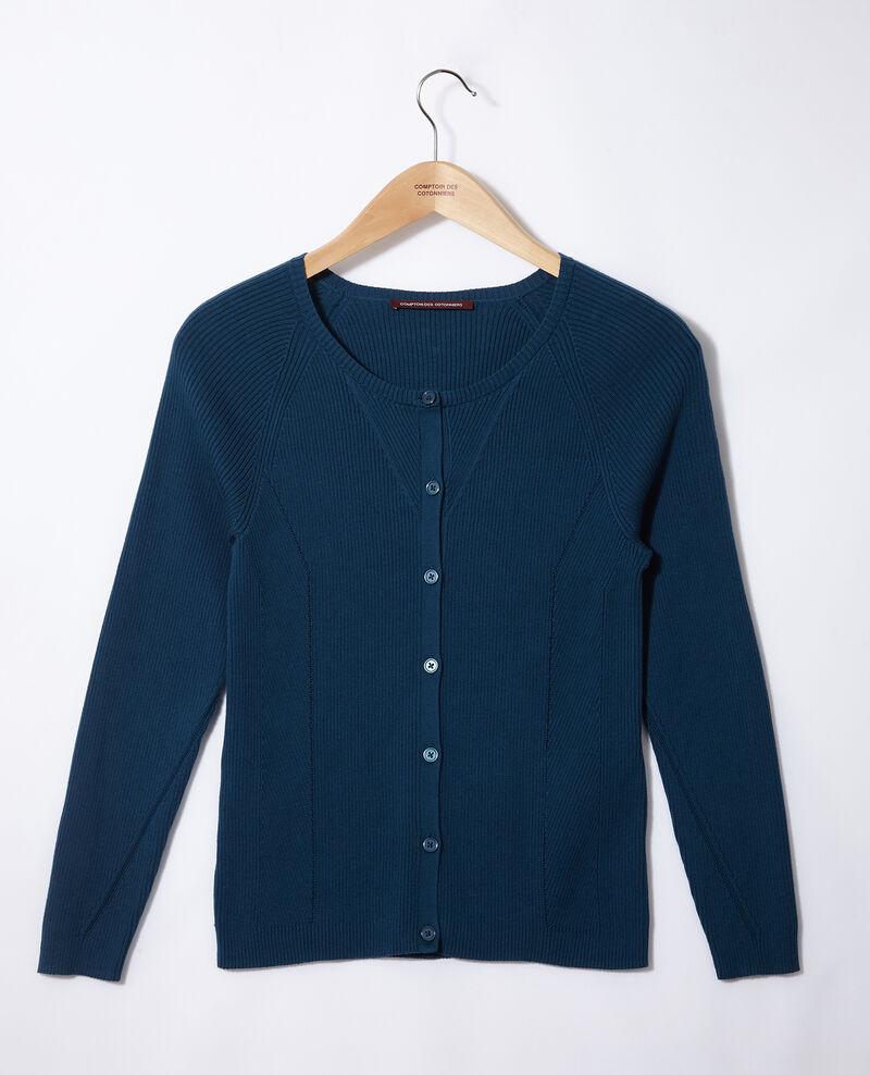 Cardigan aus Baumwolle Blau Genie