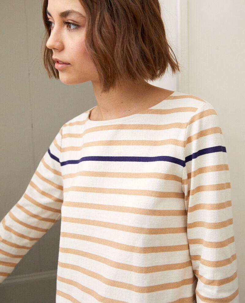 Matrosen-T-Shirt Ow/camel/navy Isteria