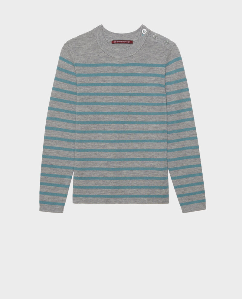 MADDY - Wollpullover im Marinelook Str_ltgry_ trs Liselle