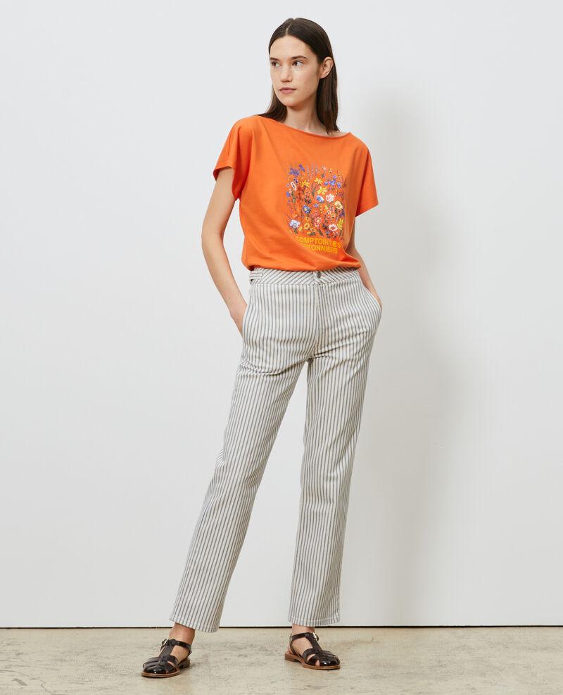 T-Shirt aus Baumwolle mit kurzen Ärmeln Harvest pumpkin Marcelin