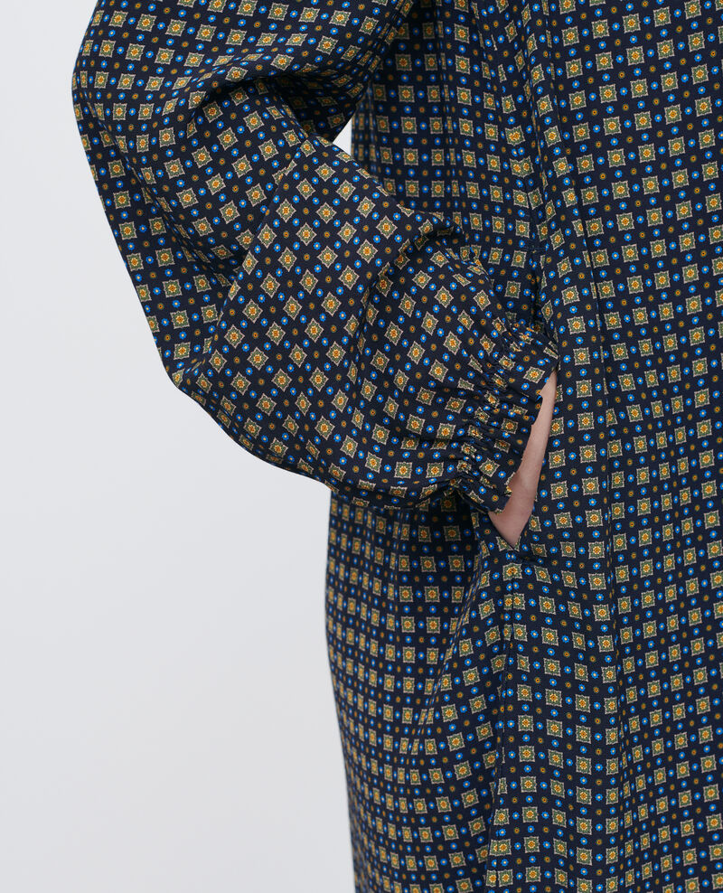 Kurzes gesmoktes Kleid Cravate green Poisson