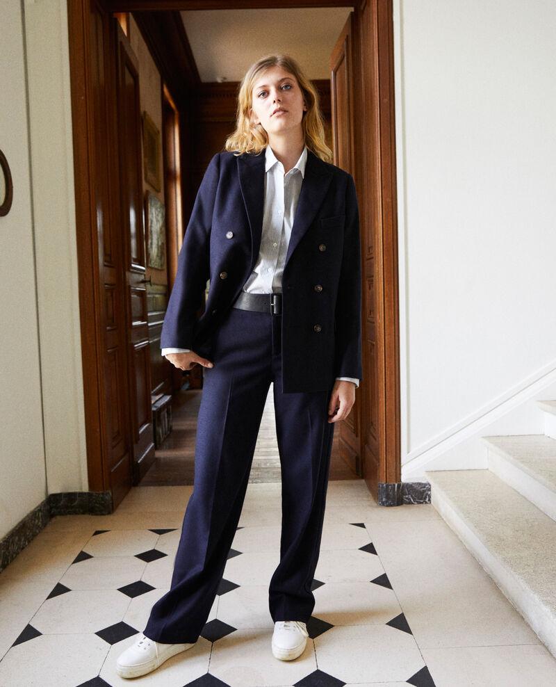 tailoring-Hose mit Wolle Dark navy Jermes