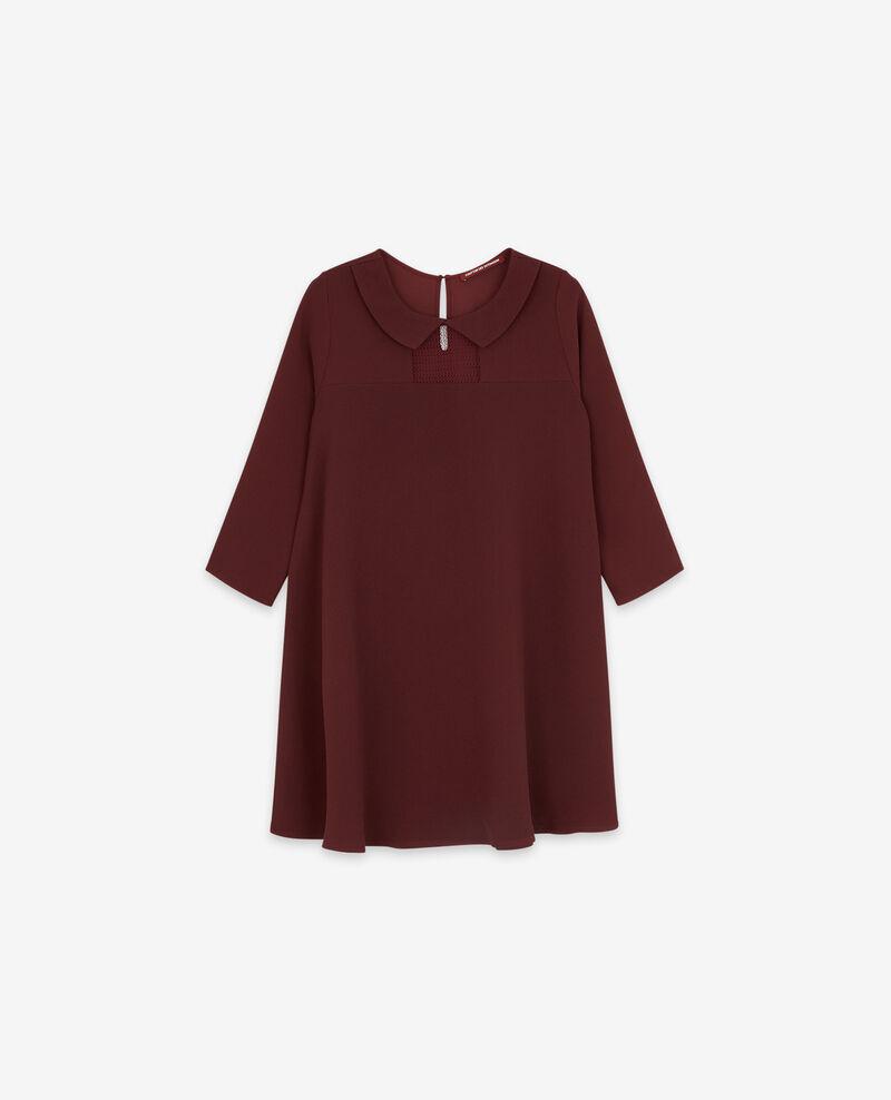 Kleid mit Claudine-Kragen Burgundy Donatella