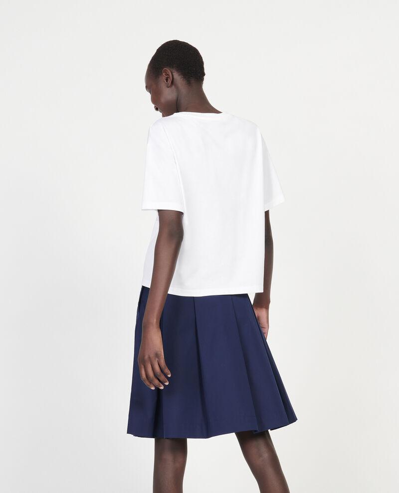 Boxy T-Shirt aus merzerisierter Baumwolle Optical white Lexana