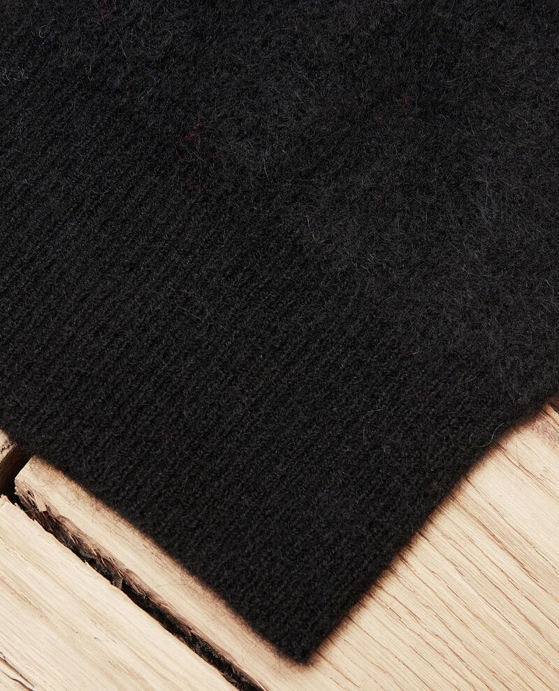 Bonnet en maille Noir Japeau
