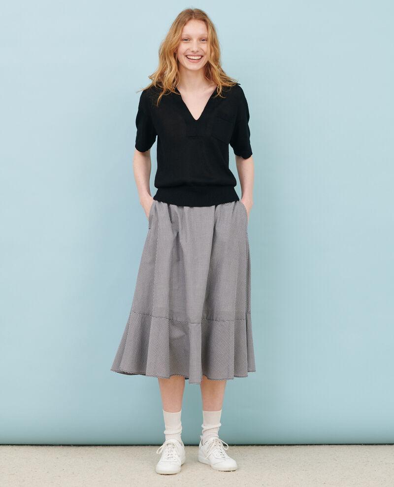 Leichtes Poloshirt aus Leinen Black beauty Novella