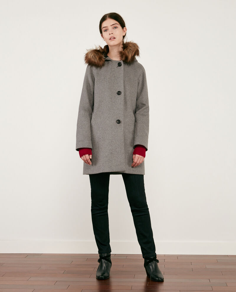 Mantel aus Wolle Medium heather grey Dalexo