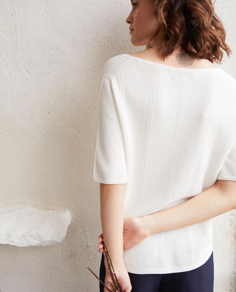 Pull en coton 3D Off white Irankana