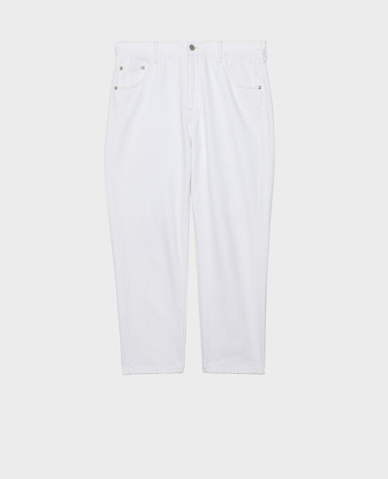 SLOUCHY - Weite Jeans halbhohe Taille 5 Taschen Winter white Meroni