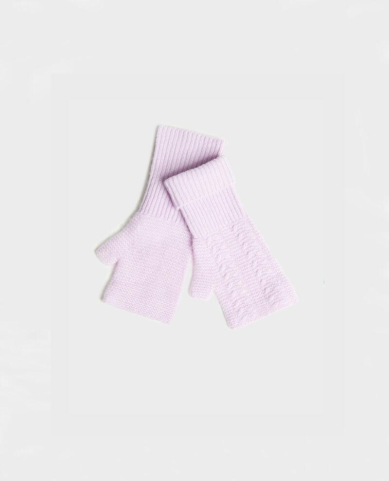 Halbfingerhandschuhe aus Kaschmir Pastel lilac Mirabel