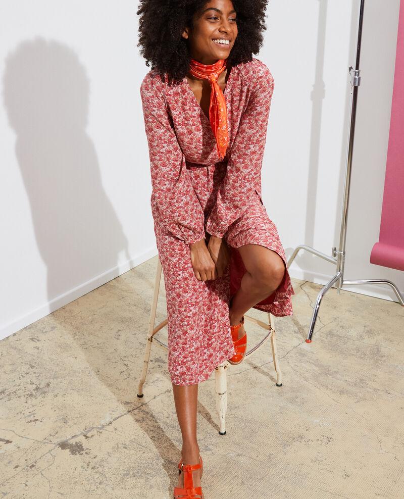 Langes Seidenkleid Art deco pink Pavisha