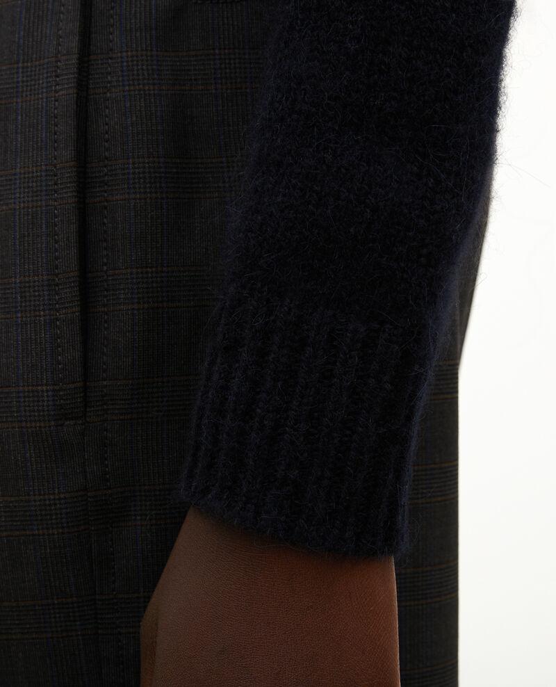 Jacquard-Pullover mit Rundhalsausschnitt aus Alpaka-Wolle Black brandy lighttaupe jacquard Marolette