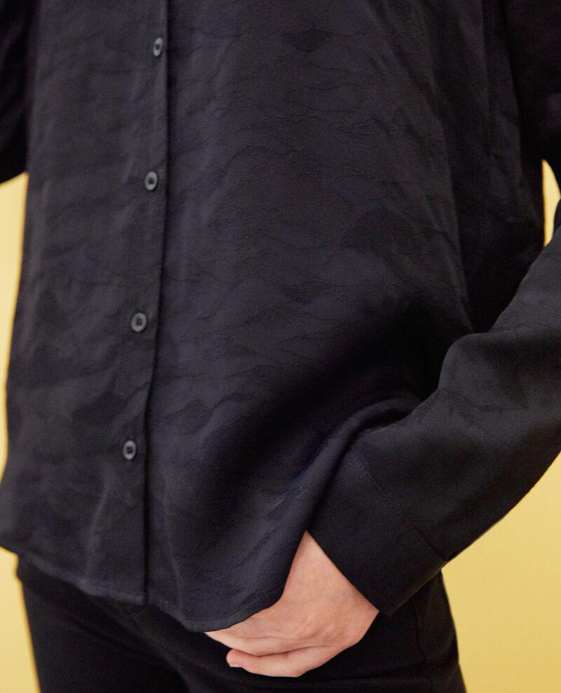 Gemusterte Bluse Noir Ikara