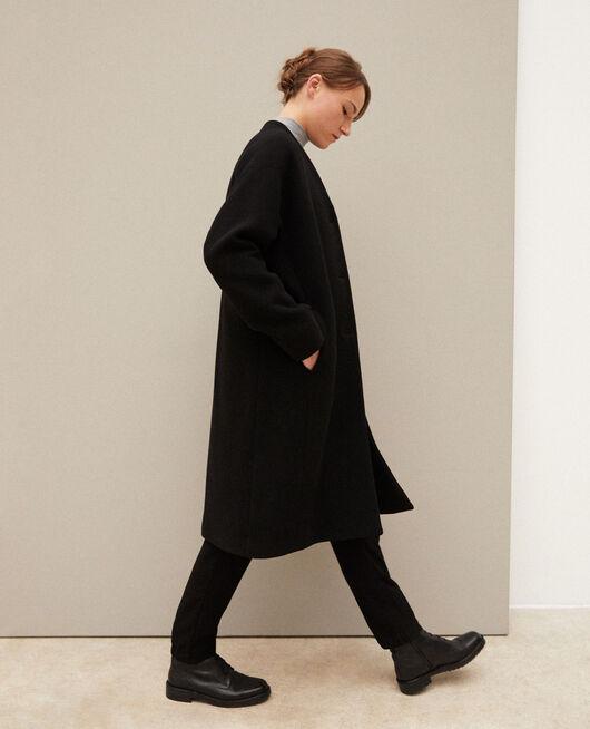 Mantel ohne Kragen NOIR