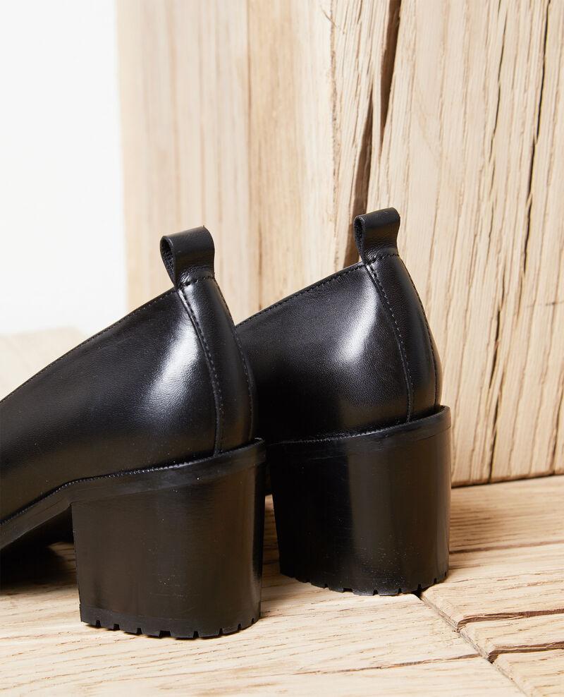 Pumps aus Leder Noir Idoc