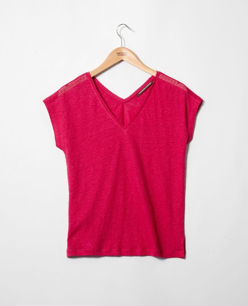 T-Shirt mit Spitze Fushia Itlanta