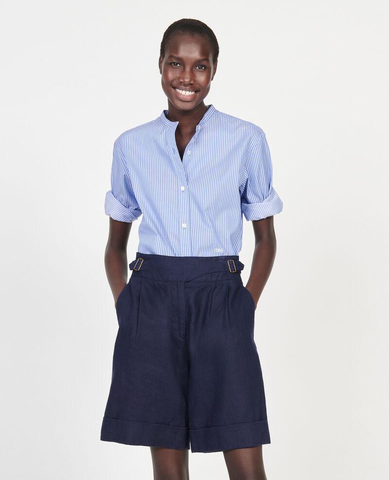 Shorts aus Leinen Maritime blue Laudi