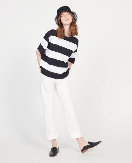 T-Shirt aus merzerisierter Baumwolle STR OPTICALWHITE BLACK