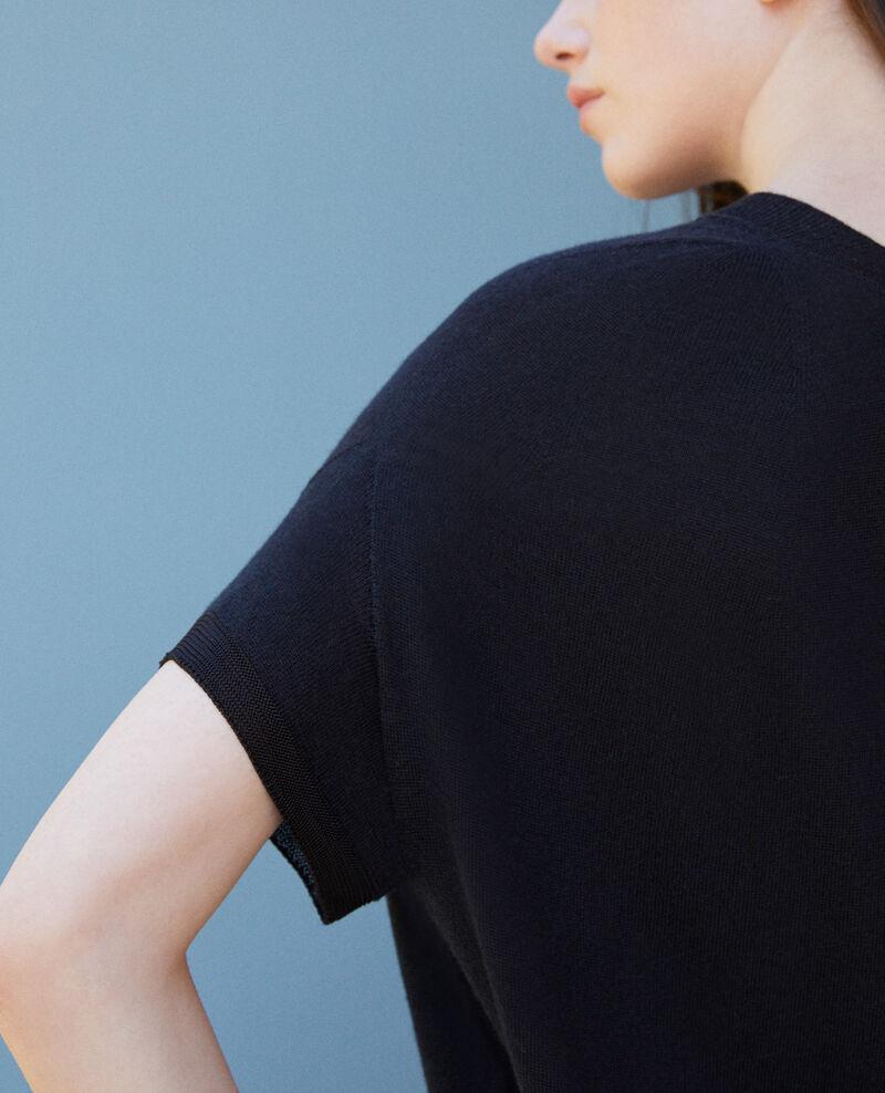 Kleid aus nahtlosem Strick Schwarz Gedith