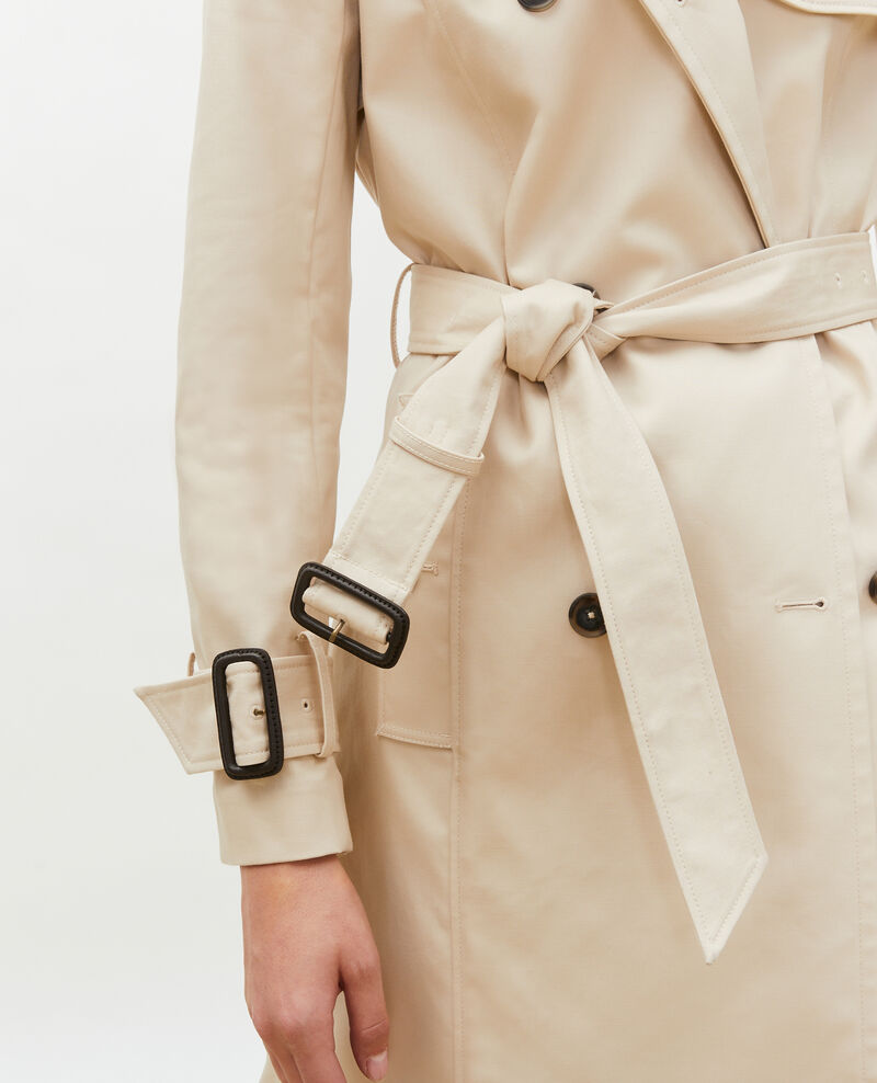 CATHERINE -Mittellanger Trenchcoat aus Baumwolle mit Gürtel Smoke gray Mambert