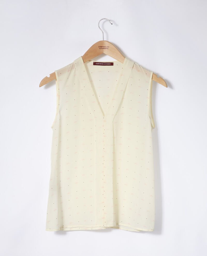 Ärmelloses Top Lotus fan winter white Ganette