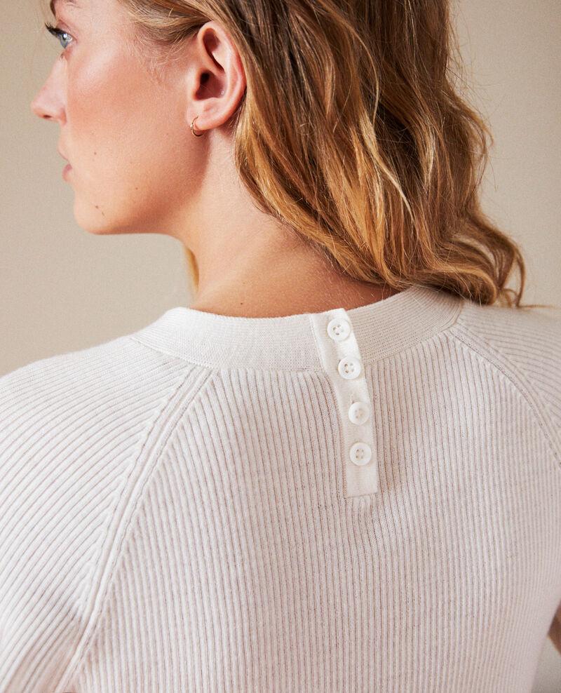 Pullover mit Knöpfen im Rücken Off white Jemossa