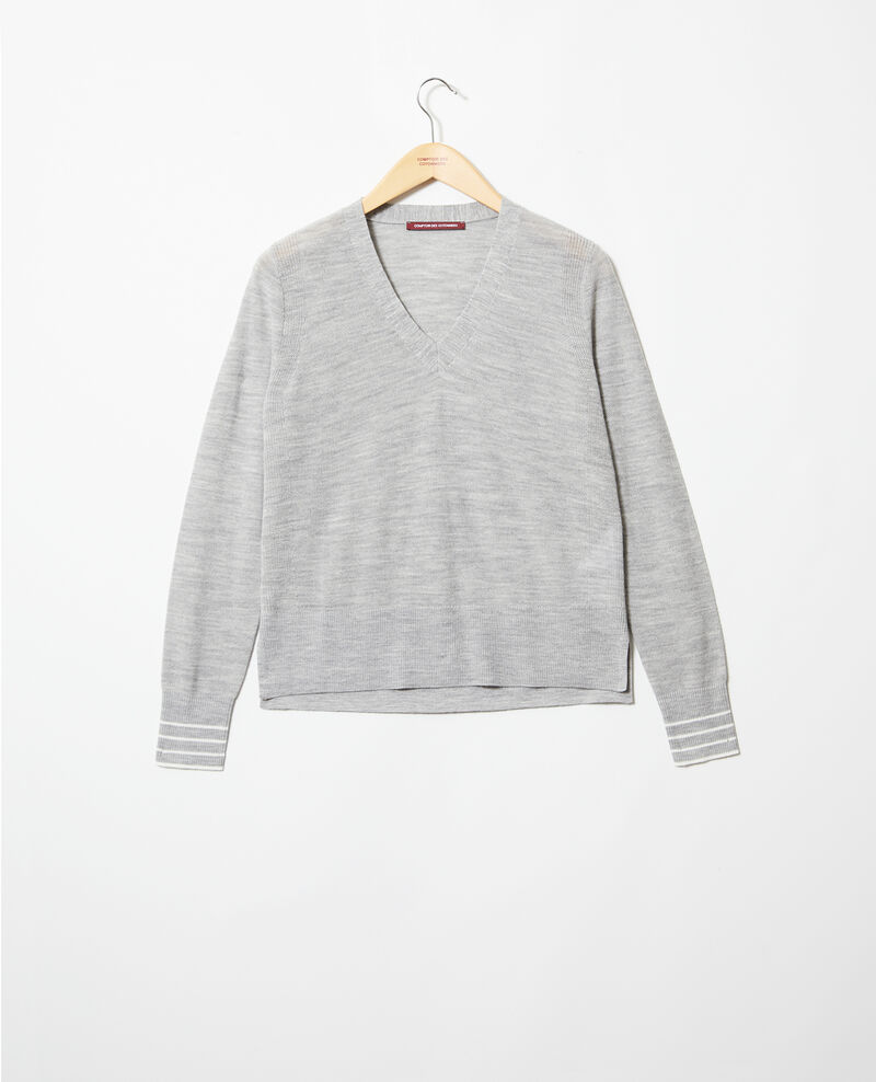 Pullover aus Wolle Light grey Idile