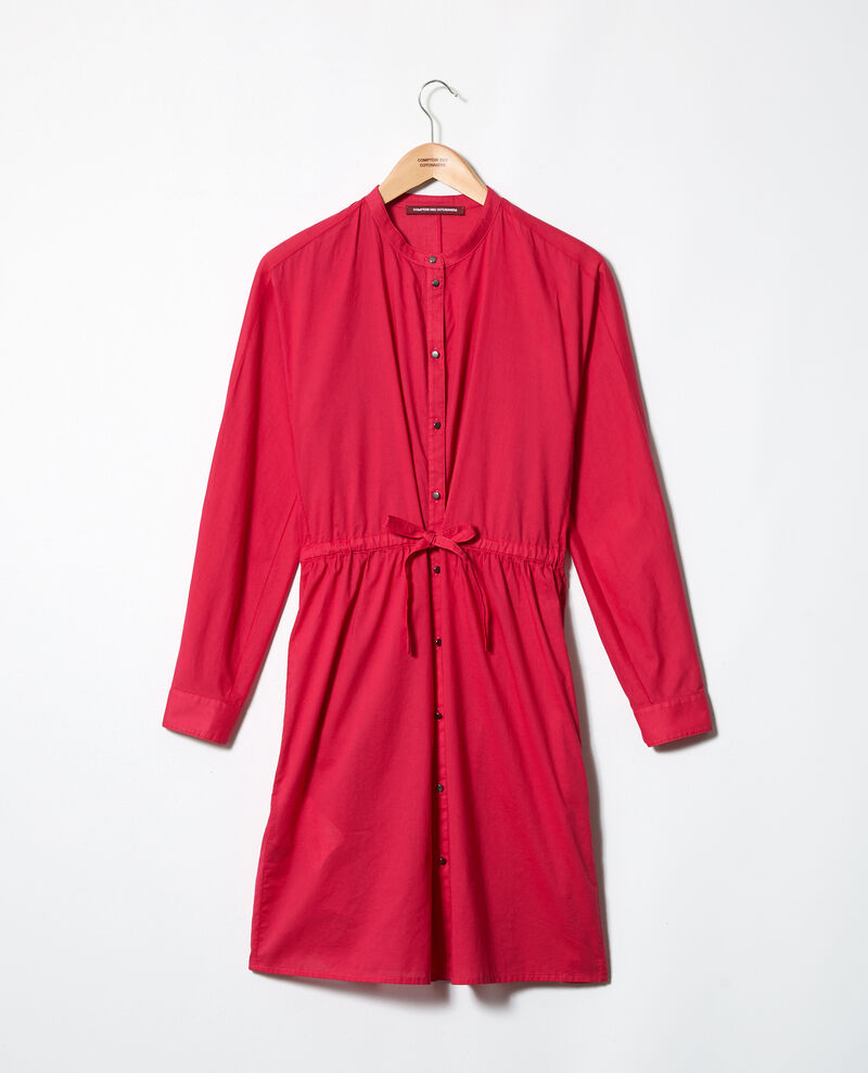 Kleid mit Rundhalsausschnitt aus Baumwolle Fushia Ioda