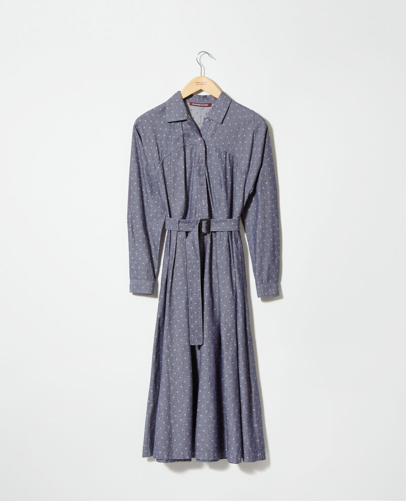 Halblanges Kleid Blau Goze