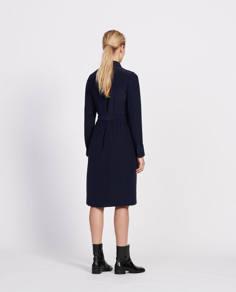 Fließendes, mittellanges Kleid Maritime blue Lolita