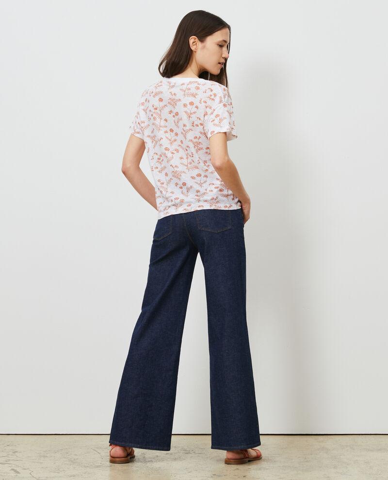 Shirt mit V-Ausschnitt aus Leinen Coronille optical Nayeli