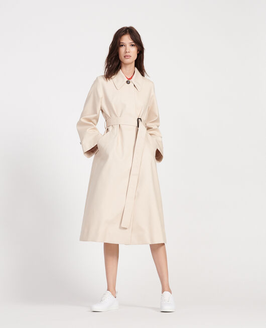 Trenchcoat aus Baumwolle  SMOKE GRAY