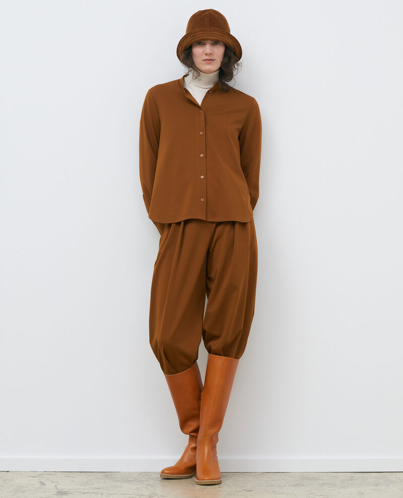 Bluse mit Mao-Kragen Monks robe Piblange