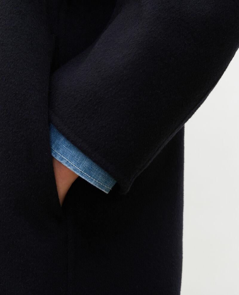 Mantel aus Wolle Black beauty Maclas