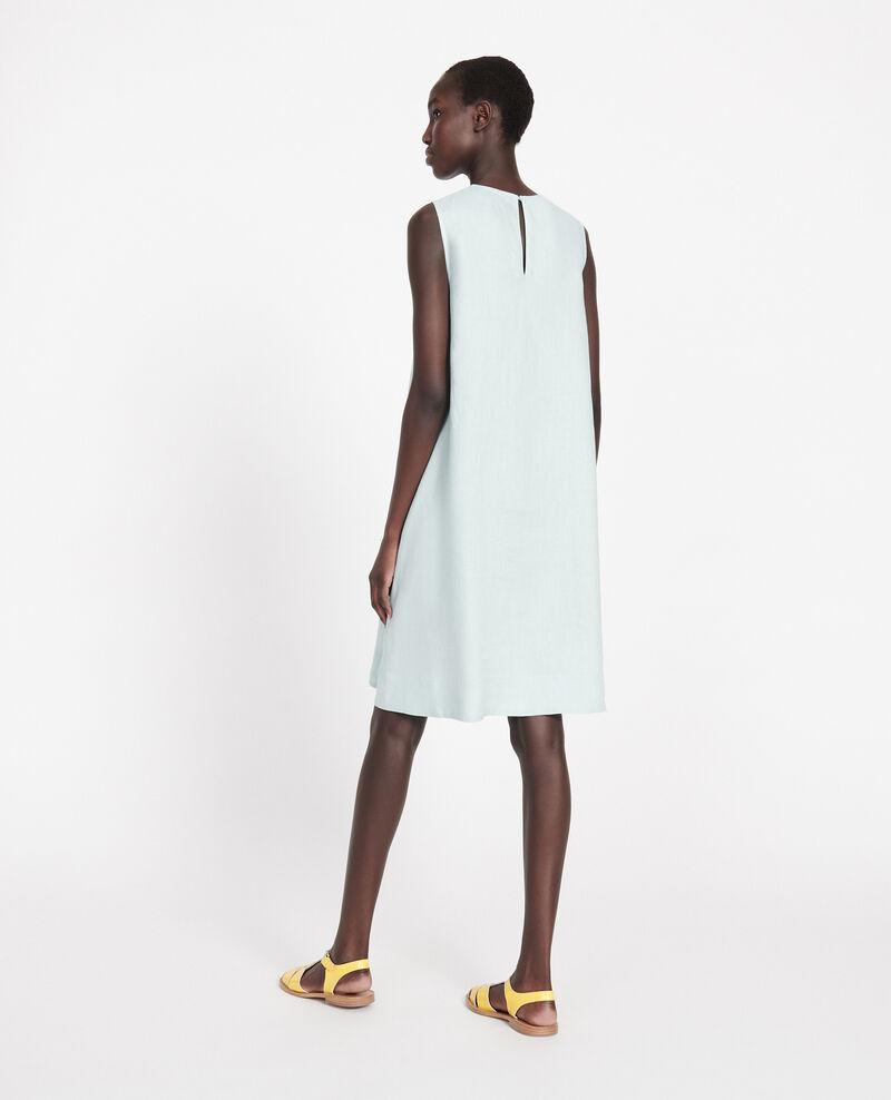 Kleid aus 100 % Leinen Blue haze Lux