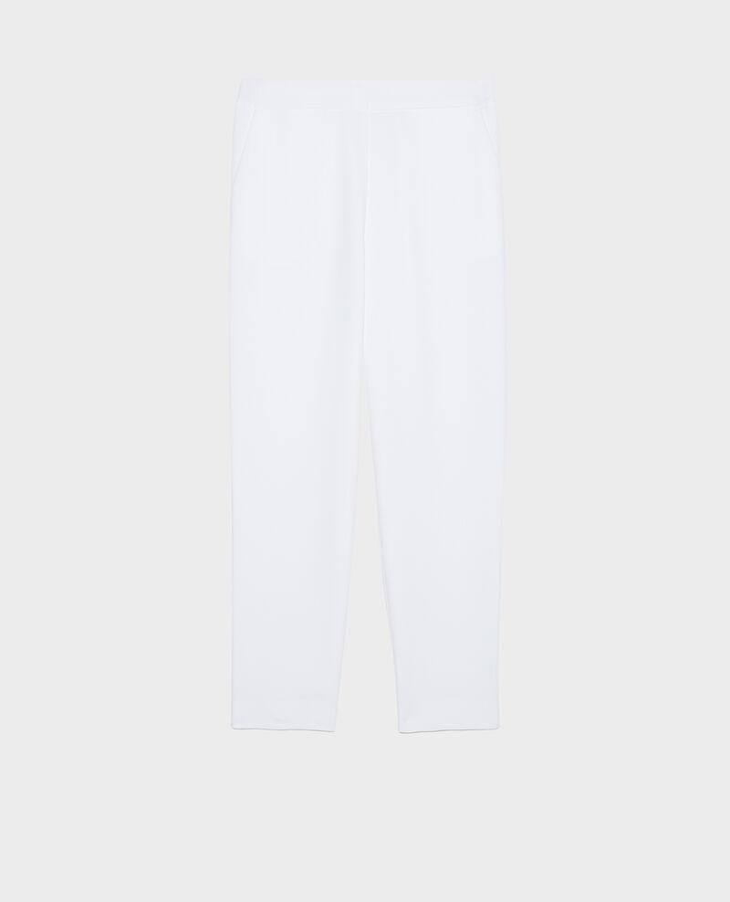 Hose fließender Fall elastischer Bund Optical white Luant
