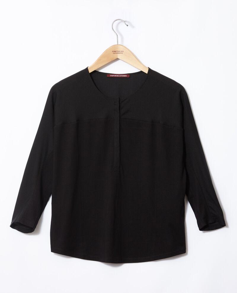 T-Shirt aus Bimaterial Noir Genious