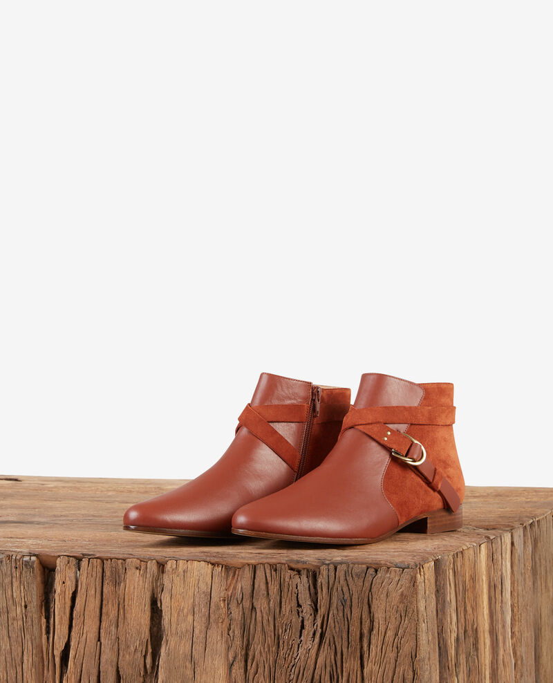 Boots aus Bimaterial-Leder Rust Dinstinct