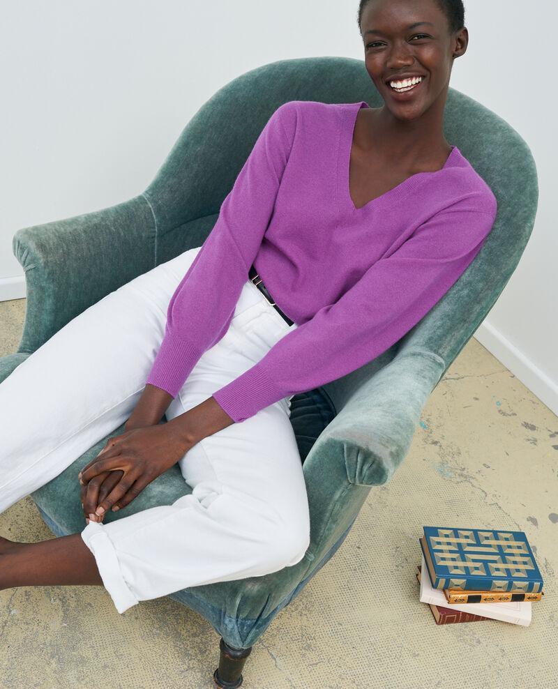 REGULAR - Weiße Jeans mit hoher Taille Optical white Napur
