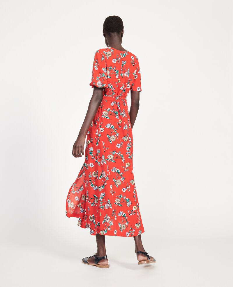 Langes Kleid Herbier fiery red haze Lavish