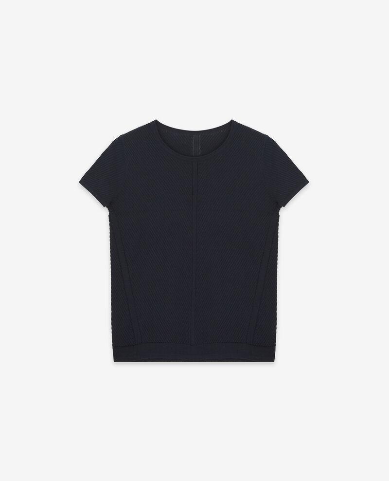 T-Shirt aus Strick Dark navy Deluz