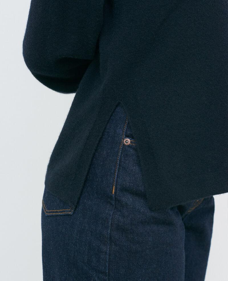 Jacke mit 3-D-Strick aus Kaschmir in lockerer Passform Black beauty Paltazar
