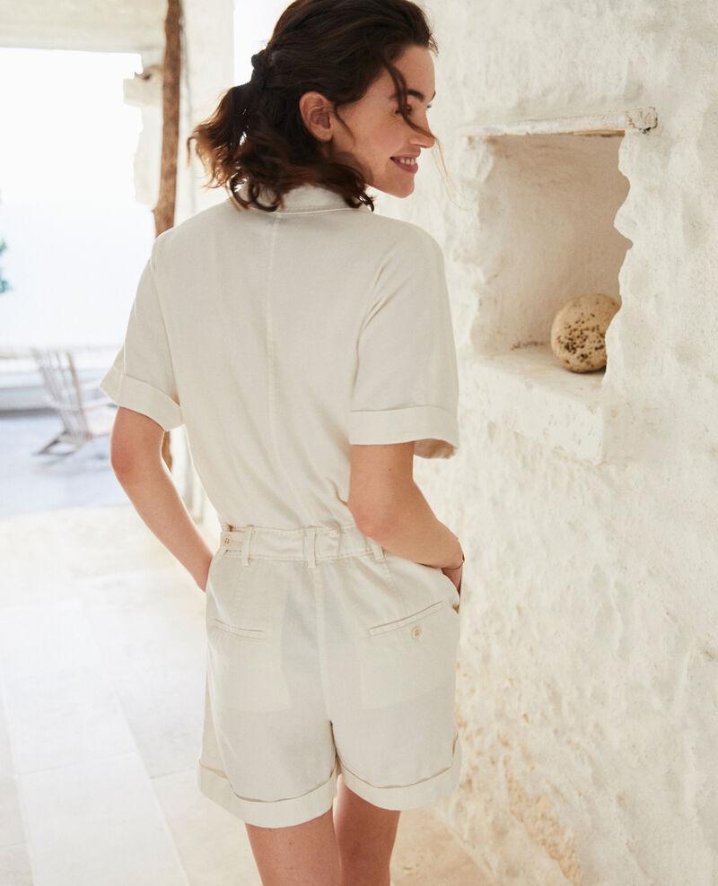 Jumpsuit mit Blazerkragen Off white Iclat