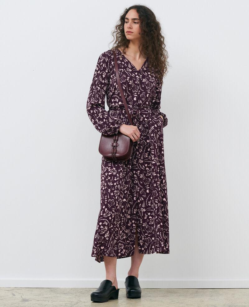 Langes gemustertes Kleid Cyanotype purple Pavish