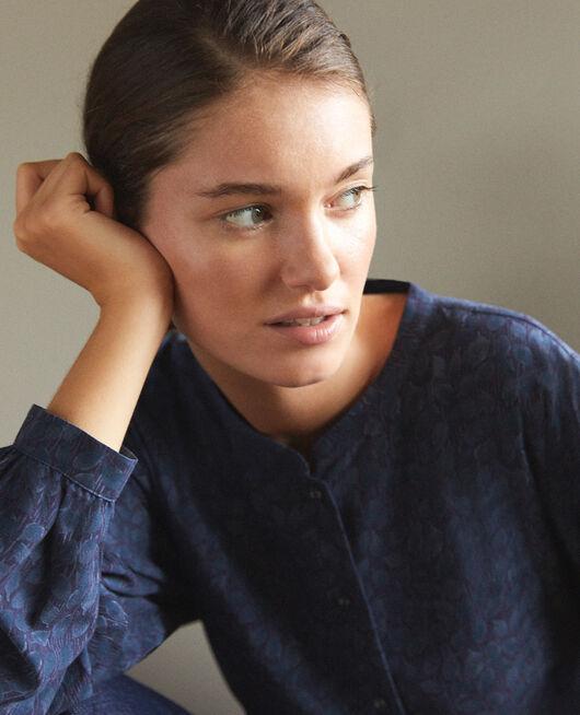 Bluse mit weitem Schnitt Blau