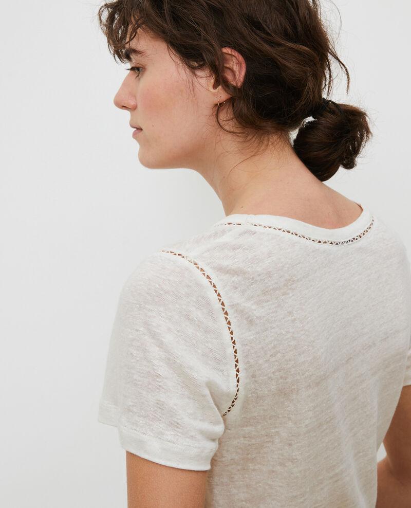 T-Shirt aus Leinen Gardenia Lye